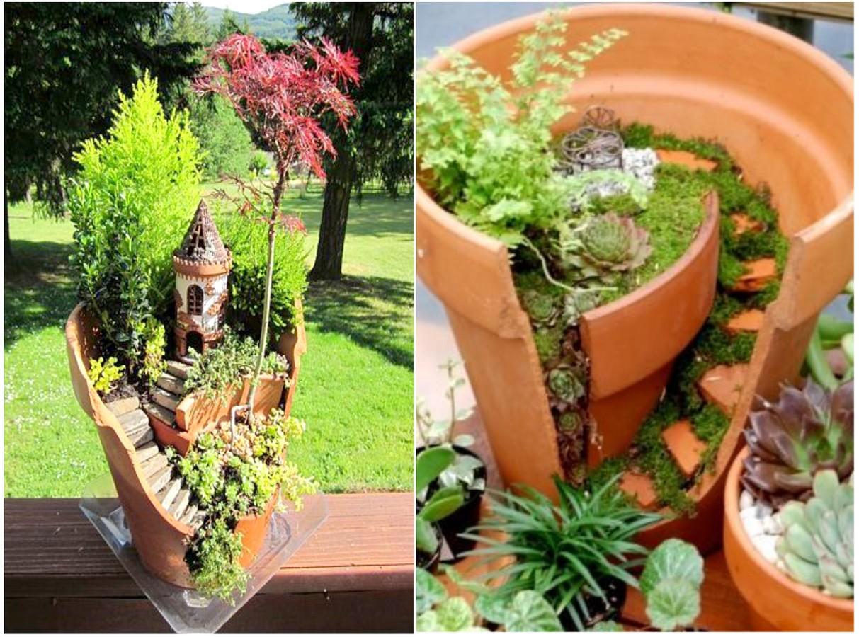 13 mini jardines originales para una primavera diferente for Ideas originales para jardines