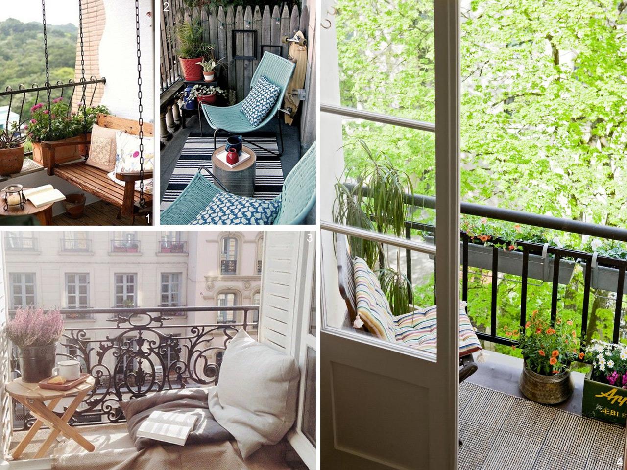5 consejos para decorar balcones peque os con encanto - Decorar un porche cerrado ...