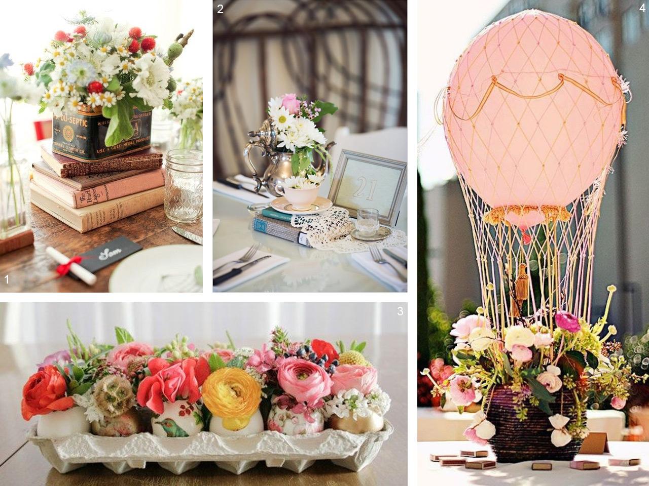 6 estilos diferentes para decorar con centros de mesa Adornos 15 anos modernos