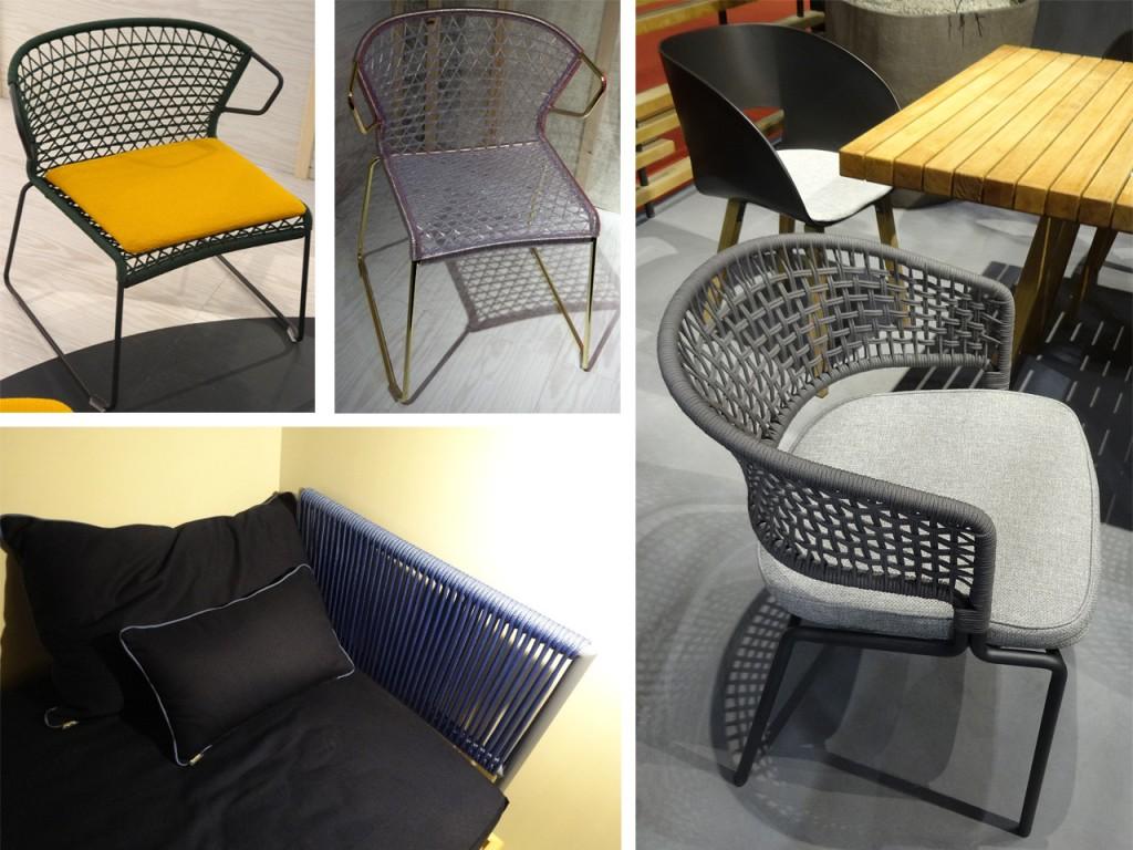 Mobiliario inspirado en el Macramé visto en la feria del muebles de Milán 2015.