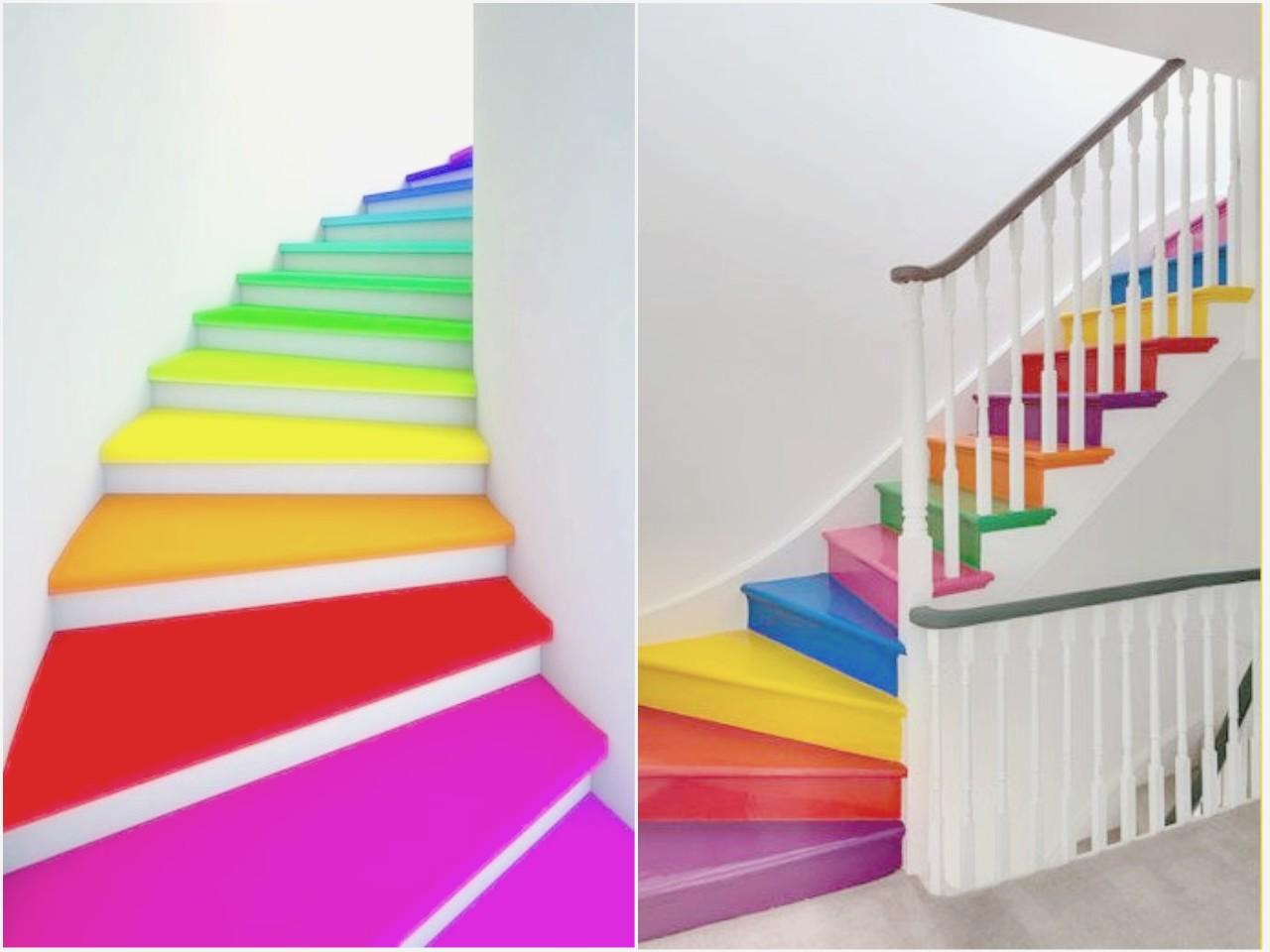 Dibujos Bonitos De Colores: Decorar Escaleras Originales : Un Paso Más En La Decoración
