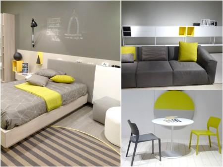 tendencias decoración 2015-2016: gris y amarillo