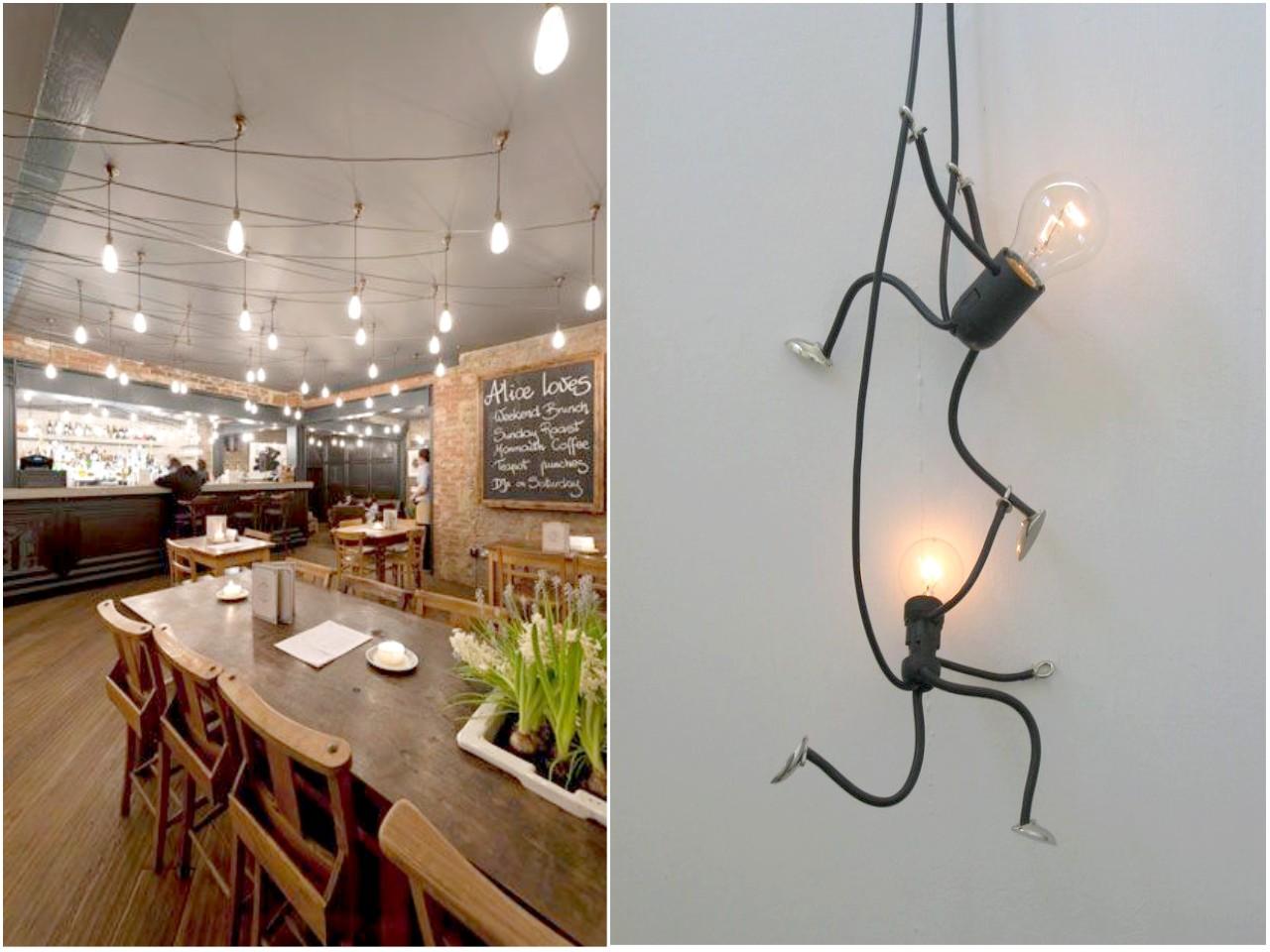 Esconder cables o decorar con ellos - Apliques de pared originales ...