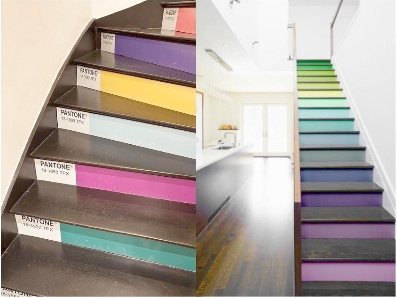 Decorar escaleras originales un paso m s en la decoraci n - Pintura para escaleras ...
