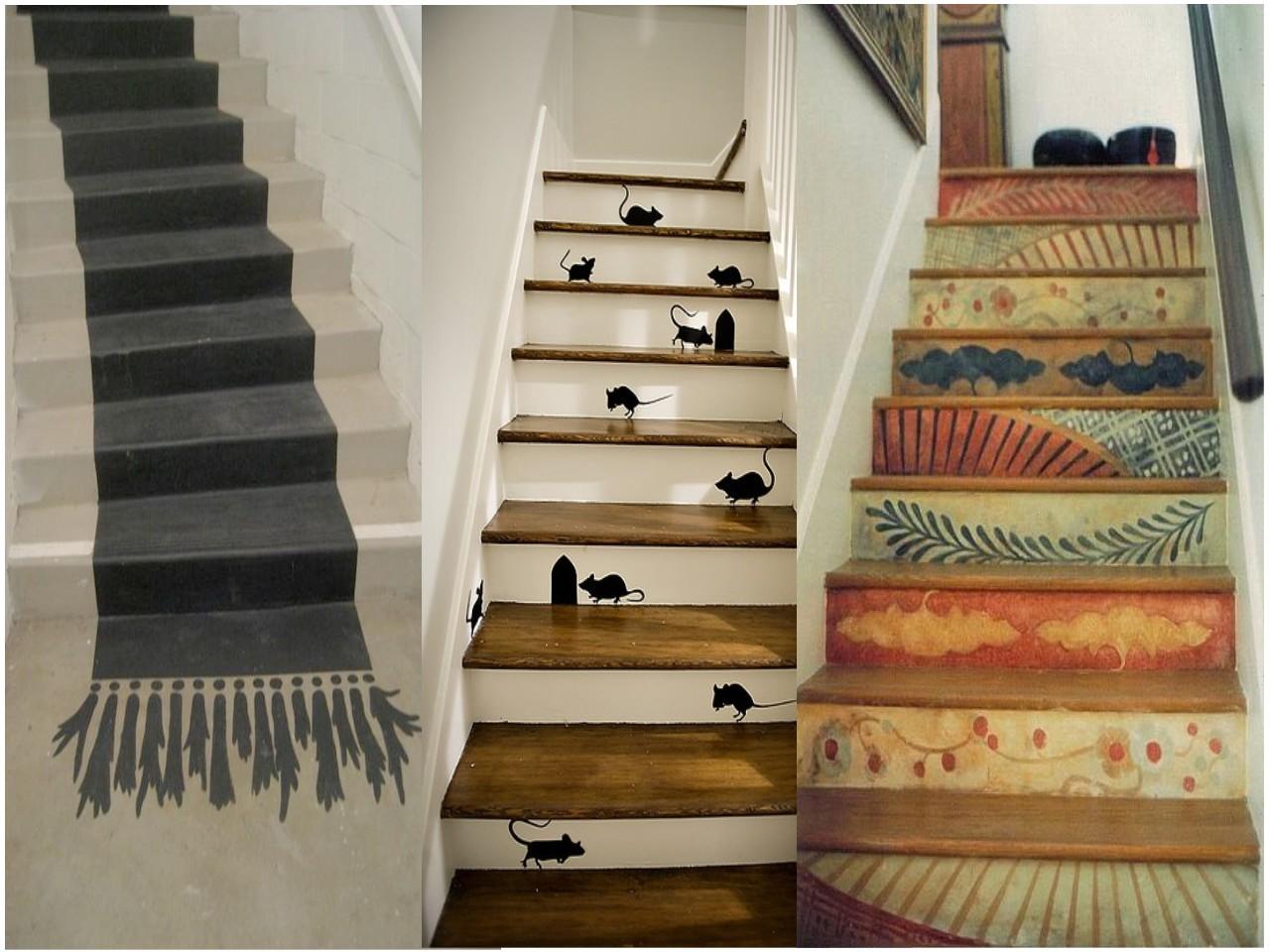 Decorar escaleras originales un paso m s en la decoraci n - Escaleras para pintar ...