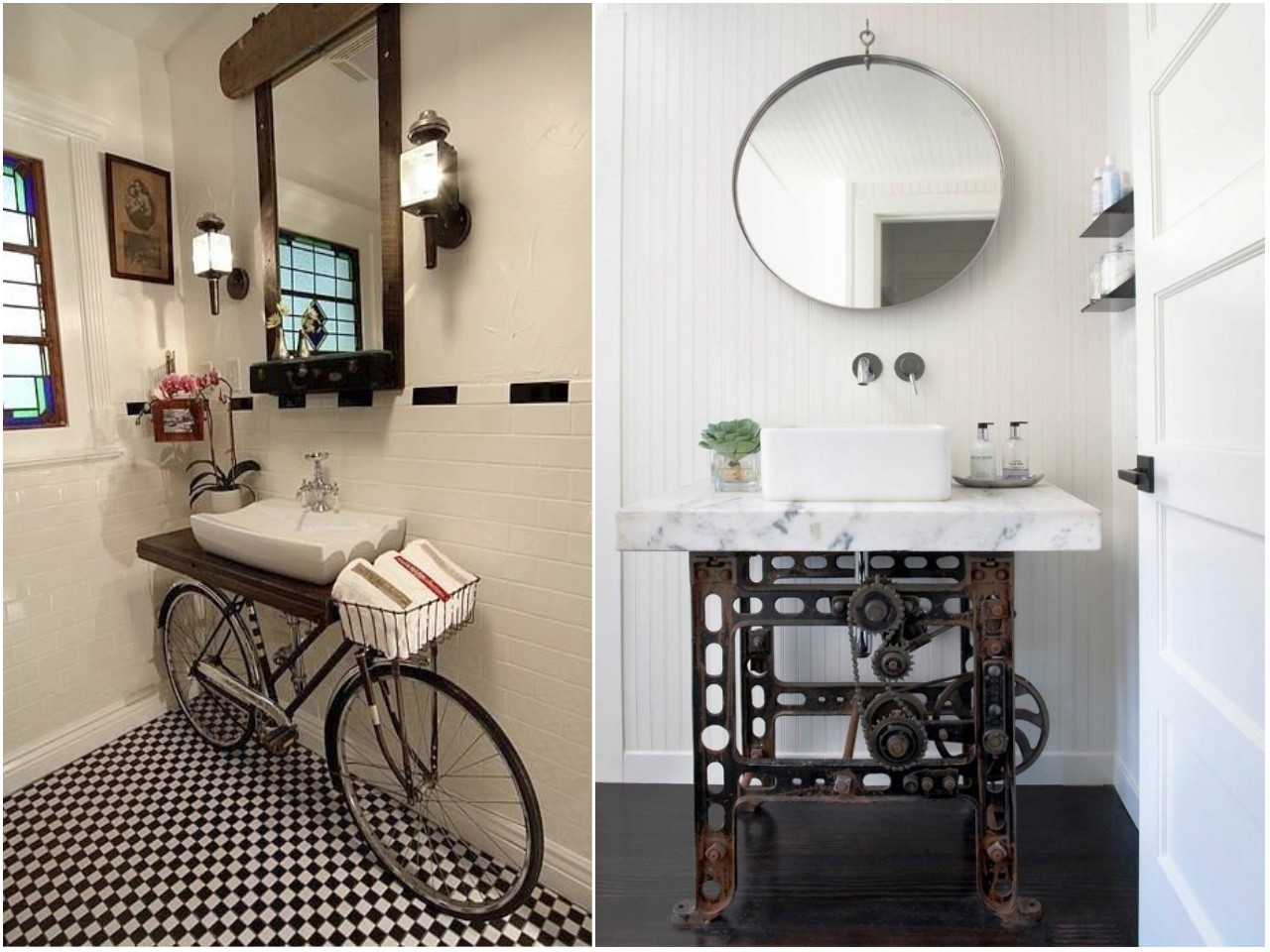 8 ideas trending para decorar ba os con estilo for Puertas para reciclar