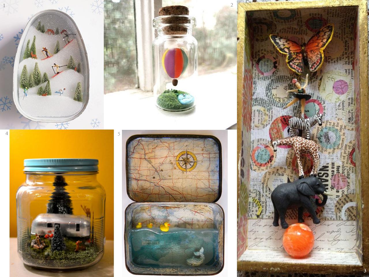 Una decoración con recuerdos de viajes y vacaciones