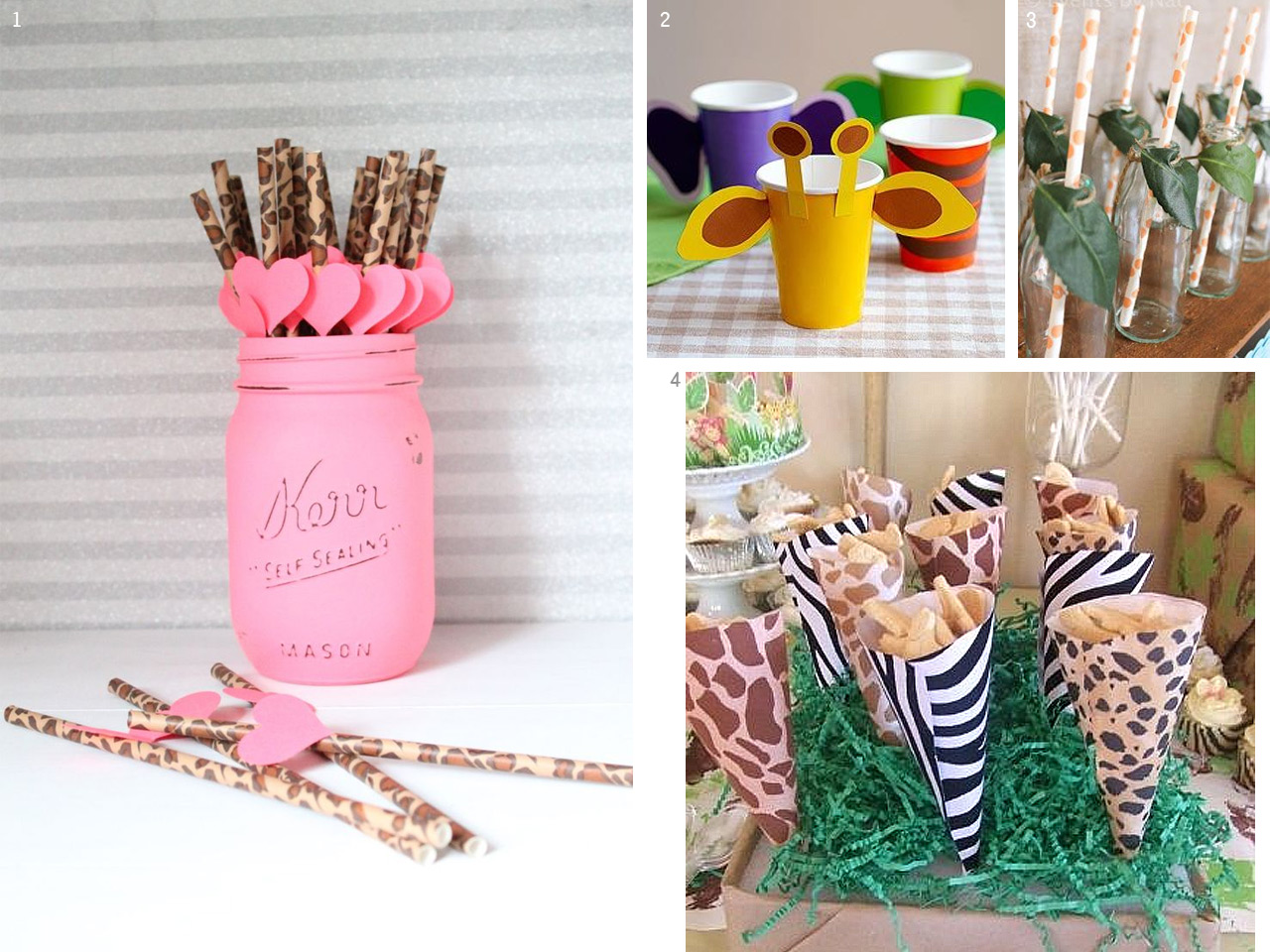 Decoraci n safari ideas para fiestas infantiles tem ticas for Decoracion de i