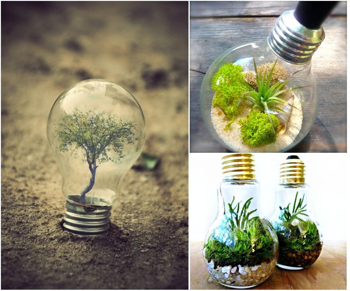 10 ideas de decoraci n con bombillas recicladas - Bombillas decoradas ...