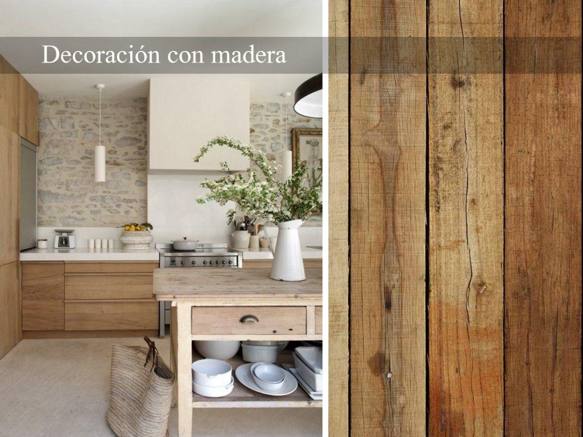 Decoración con madera. El material de hoy y de siempre
