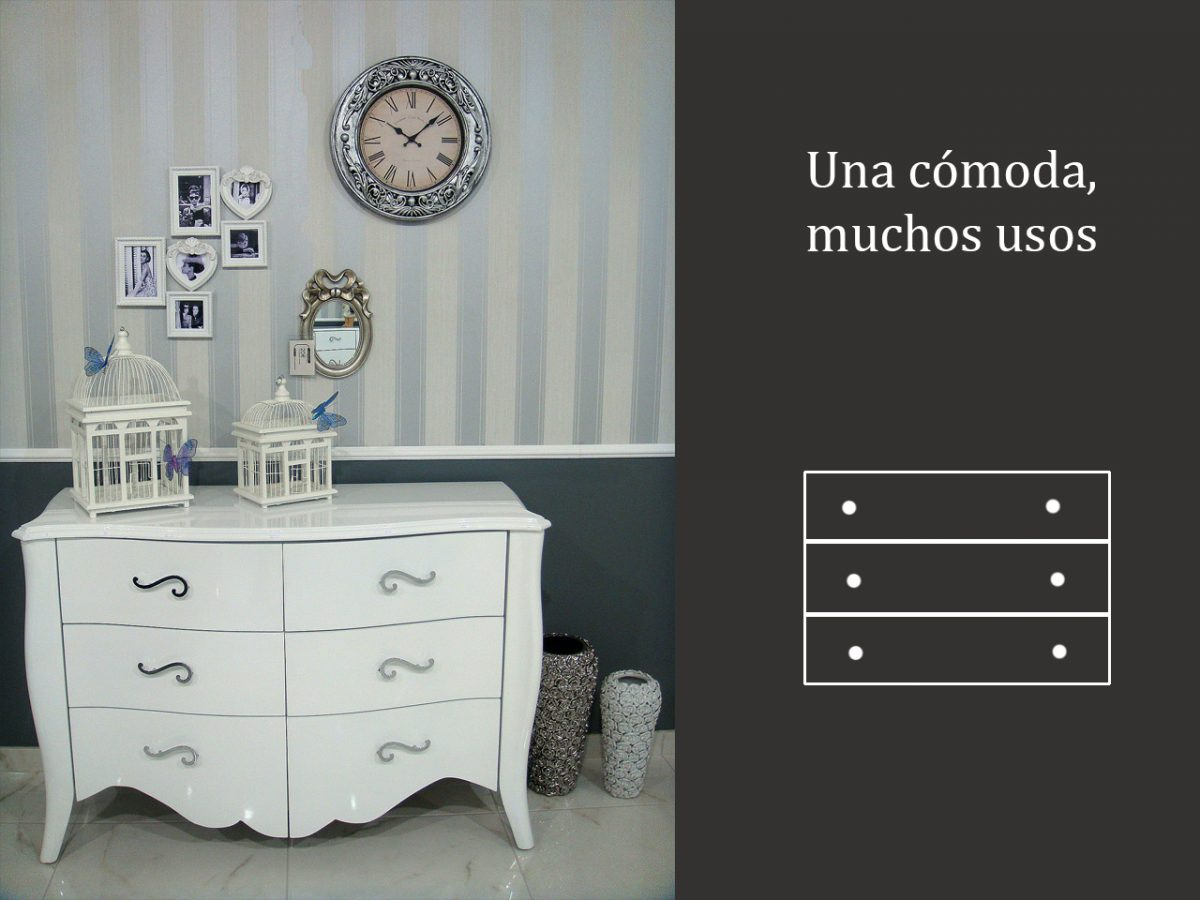Una cajonera y muchos usos para decorar con cómodas
