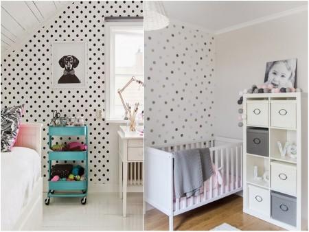 Estampados originales: topos habitaciones infantiles