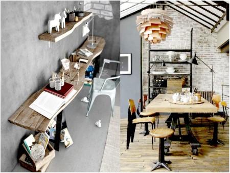 Decoración vintage industrial: maderas