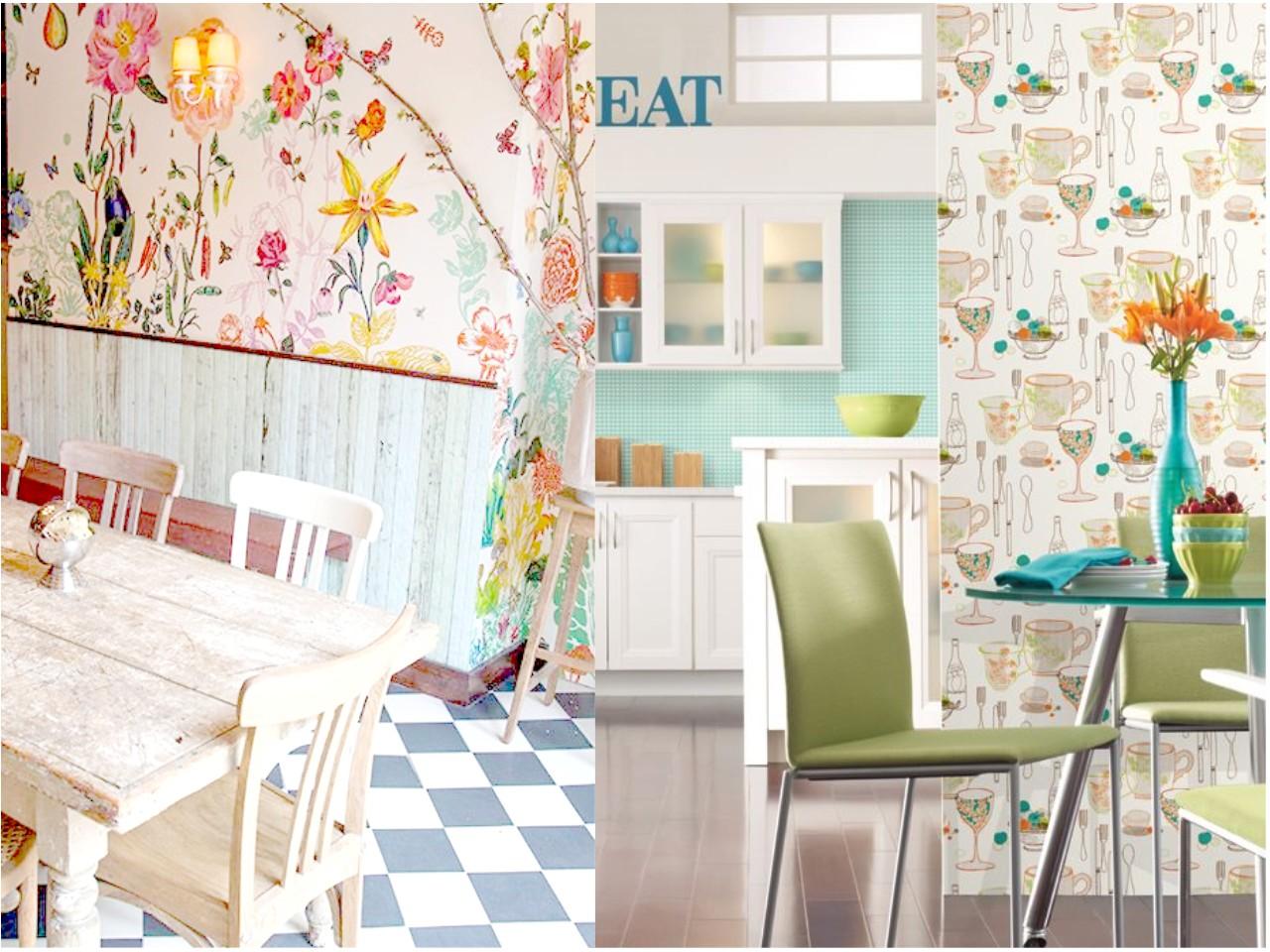 Decoraci N De Cocinas Con Papel Pintado ~ Decorar Muebles Con Papel Pintado
