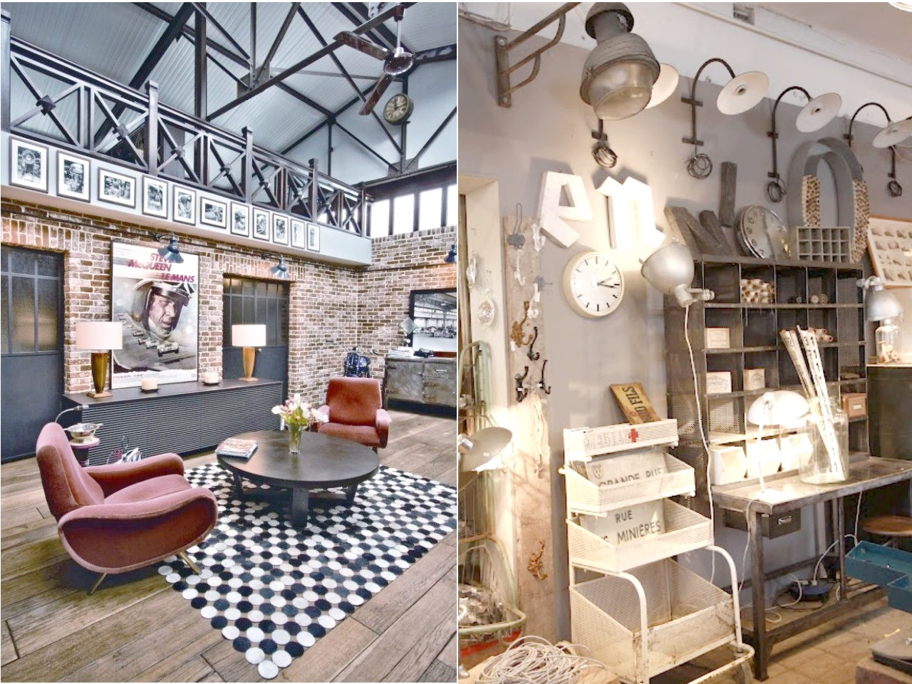 6 claves para una decoraci n vintage industrial que te for Decoracion salon vintage