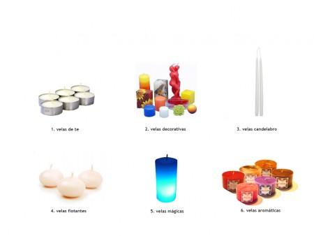 Tipos de velas decorativas