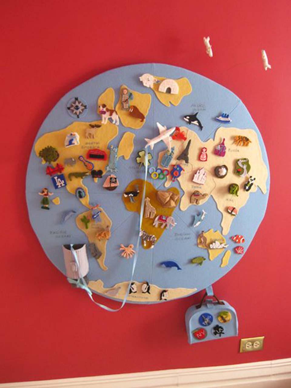 12 manualidades molonas de decoraci n infantil con fieltro for Paredes sensoriales