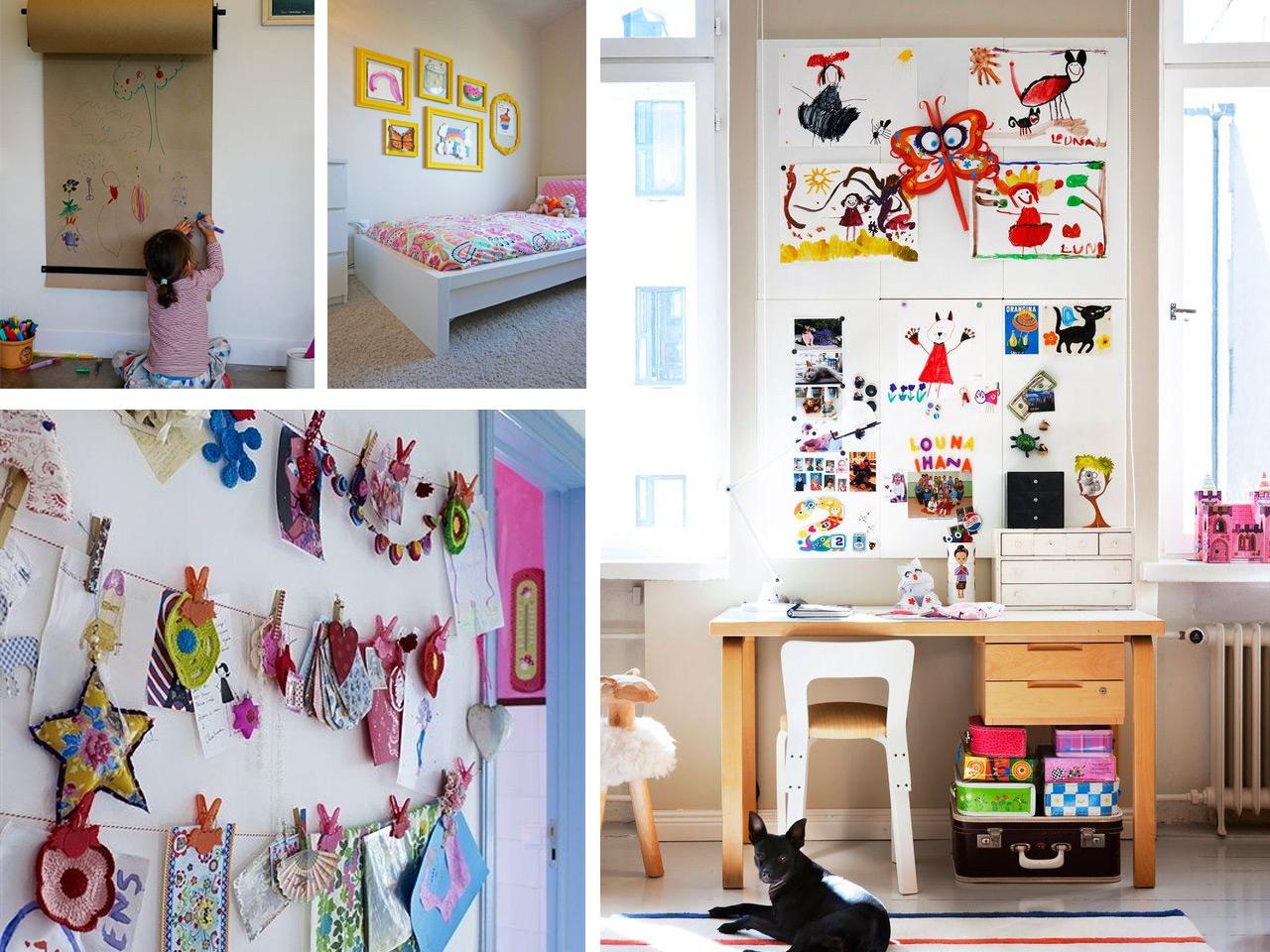 Creatividad y paredes originales para ni os for Ideas para decorar paredes infantiles