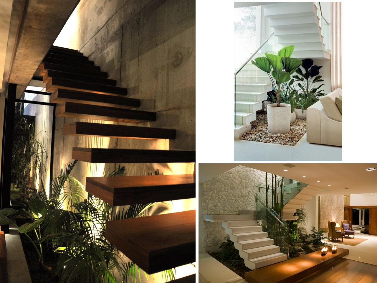 Tus 7 inspiraciones de decoraci n de terrazas interiores for Escalera de jardin de madera