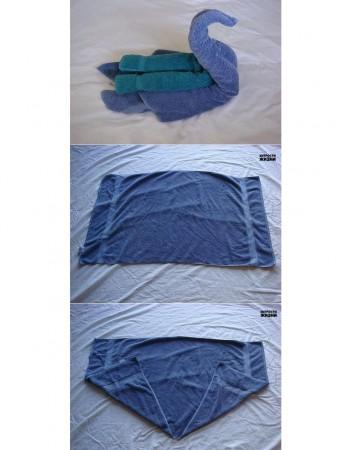 figuras con toallas paso a paso