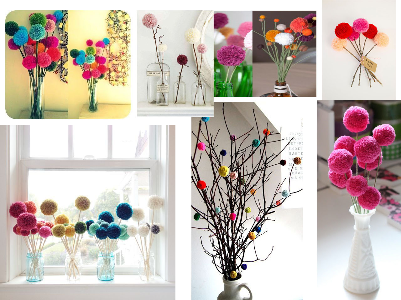 Super Ideas Para Hacer Pompones Decorar