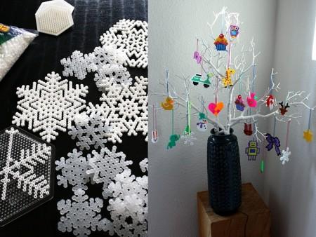 decoración navideña con hama beads