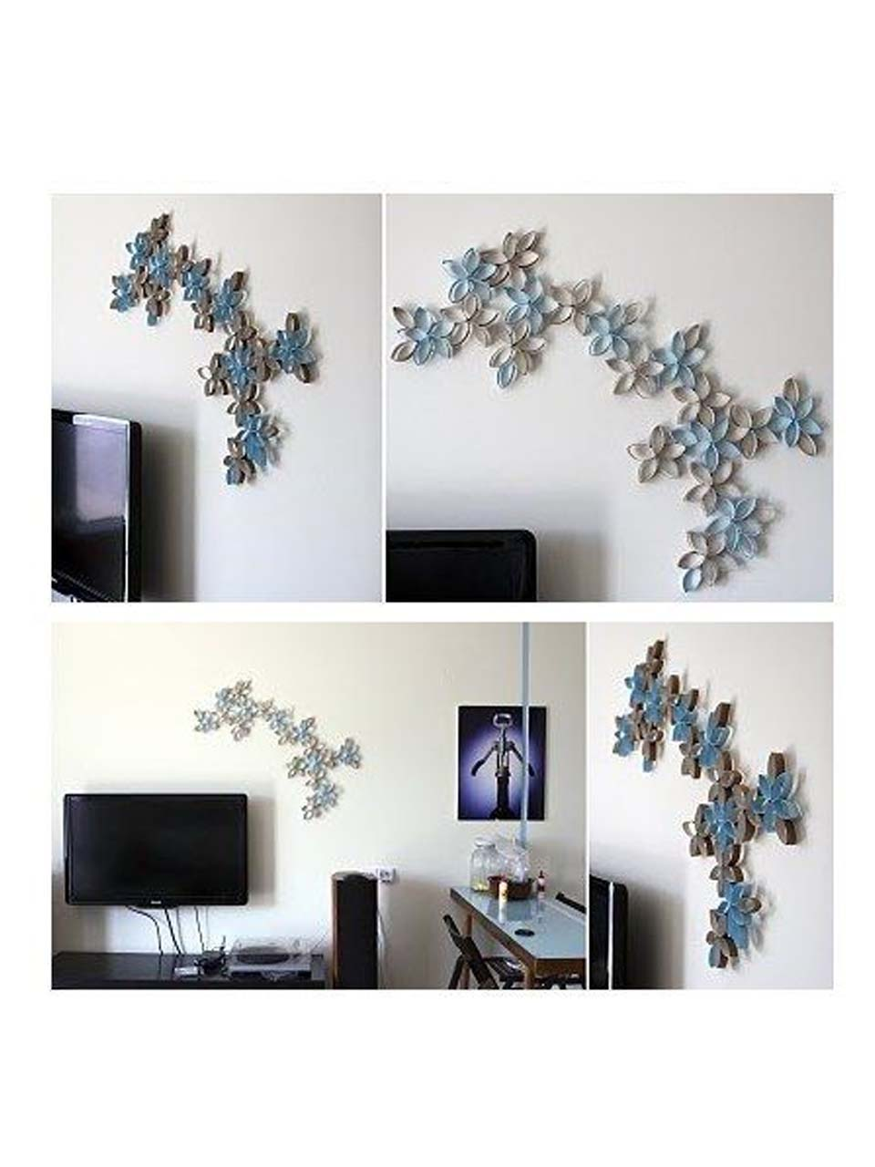15 manualidades para decorar paredes - Collage de fotos para pared ...