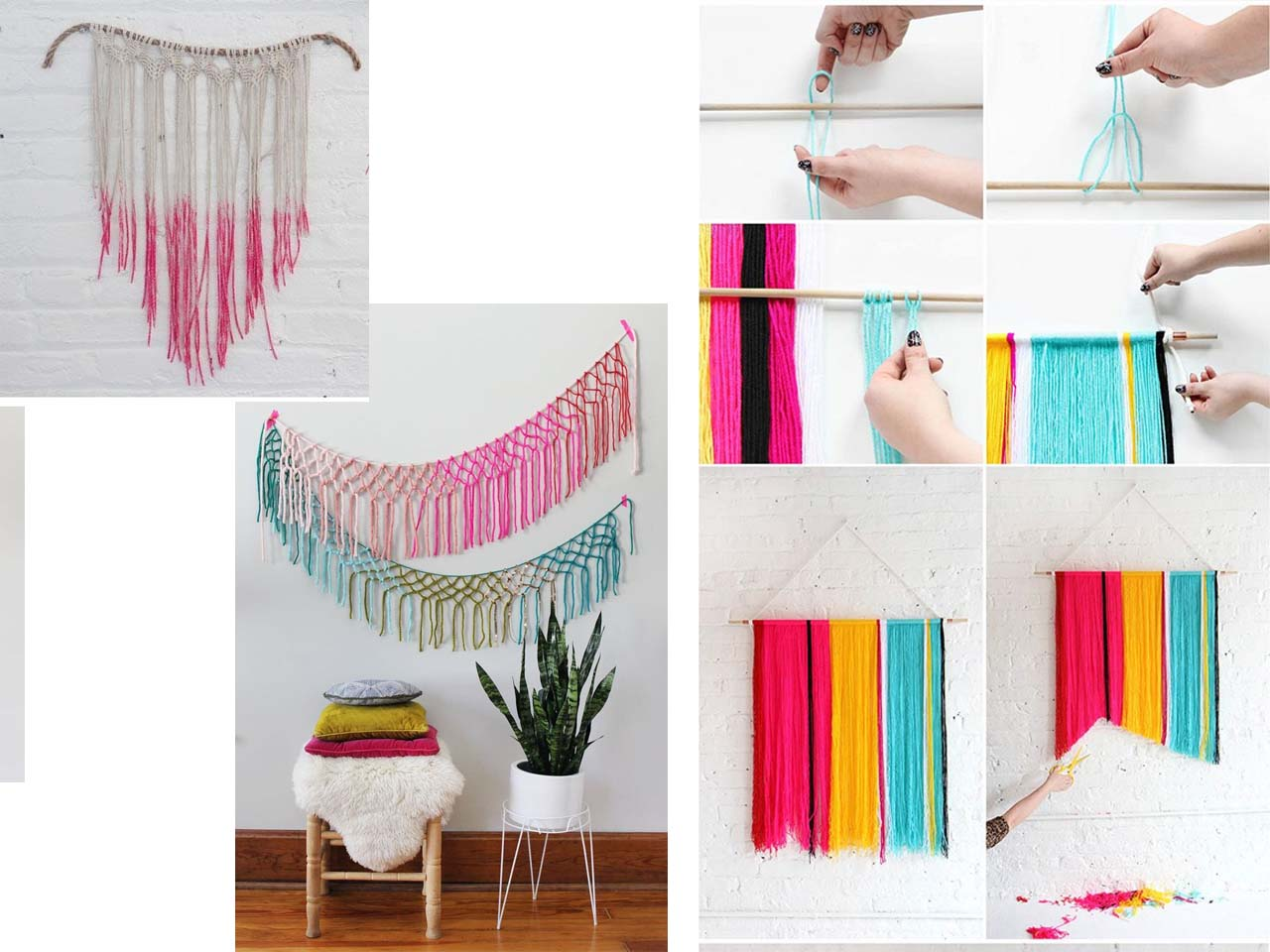 15 manualidades para decorar paredes for Manualidades de decoracion