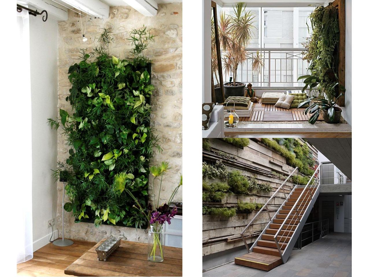 jardin interior expectacular en este dise ointerior de vivienda Jardines verticales