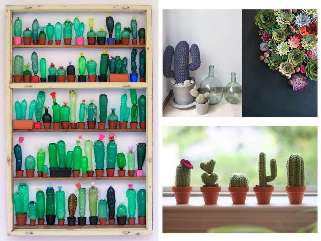 decorar con cactus originales