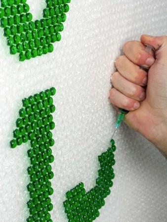 Rellenar burbujas de plástico para decorar