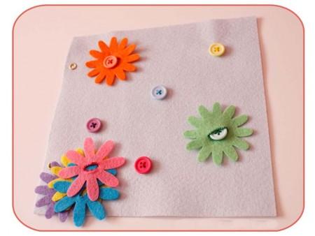 Botones para decorar con fieltro