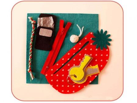 Piezas para bolso de fieltro