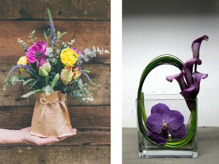 Decoración con flores frescas