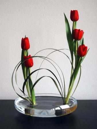 Decoración con flores orientales