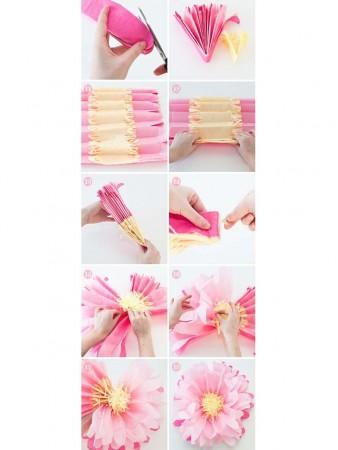 Manualidades para decorar con flores de papel
