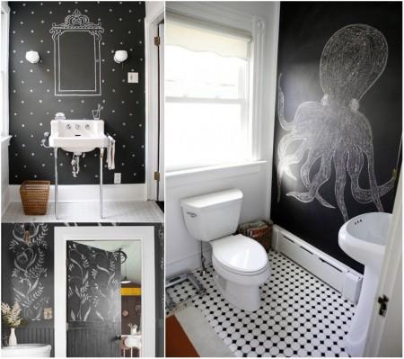 Decoración de baños con pizarras
