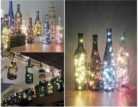 Cómo reciclar botellas de vidrio con estilo romántico