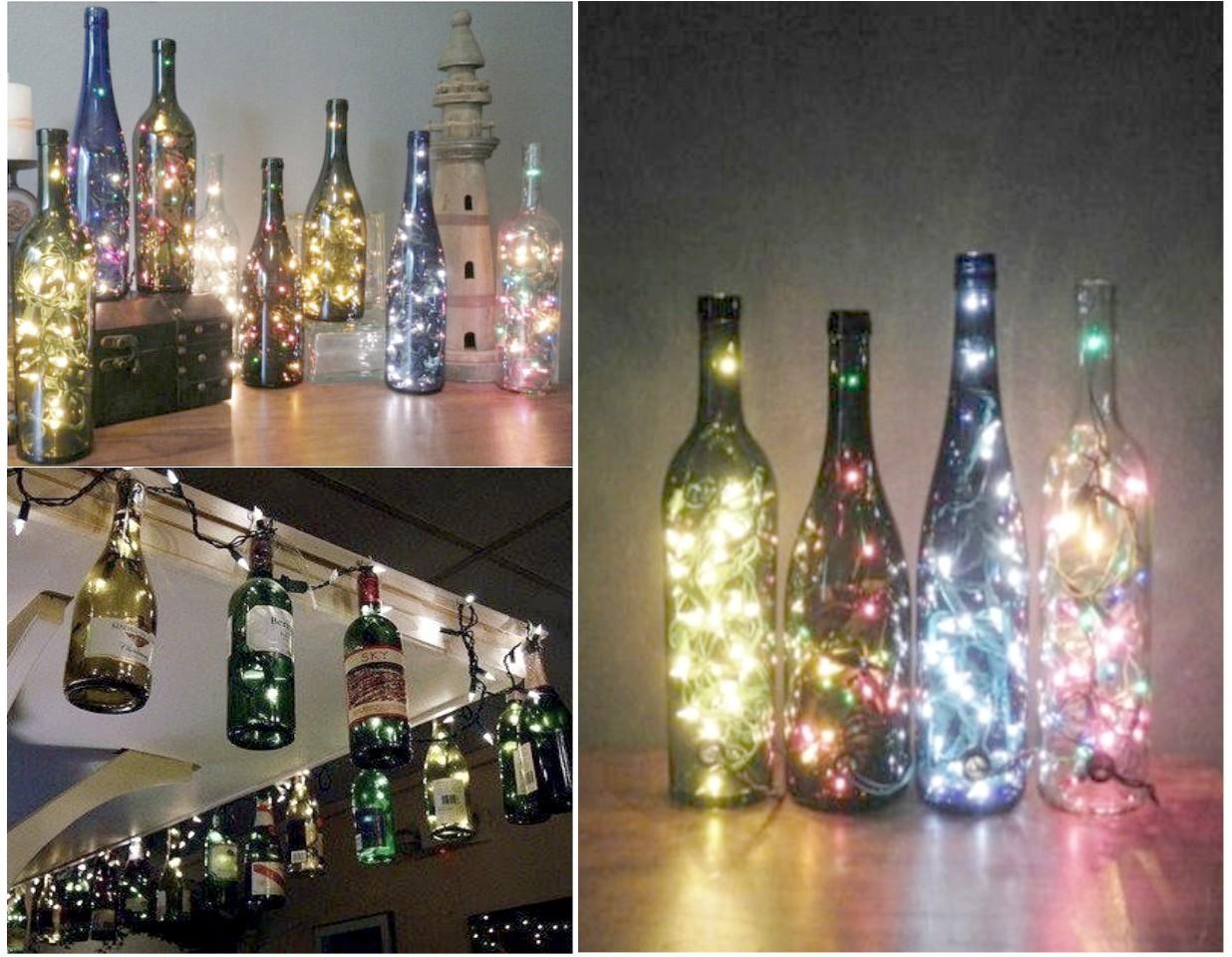 cmo reciclar botellas de vidrio con estilo romntico