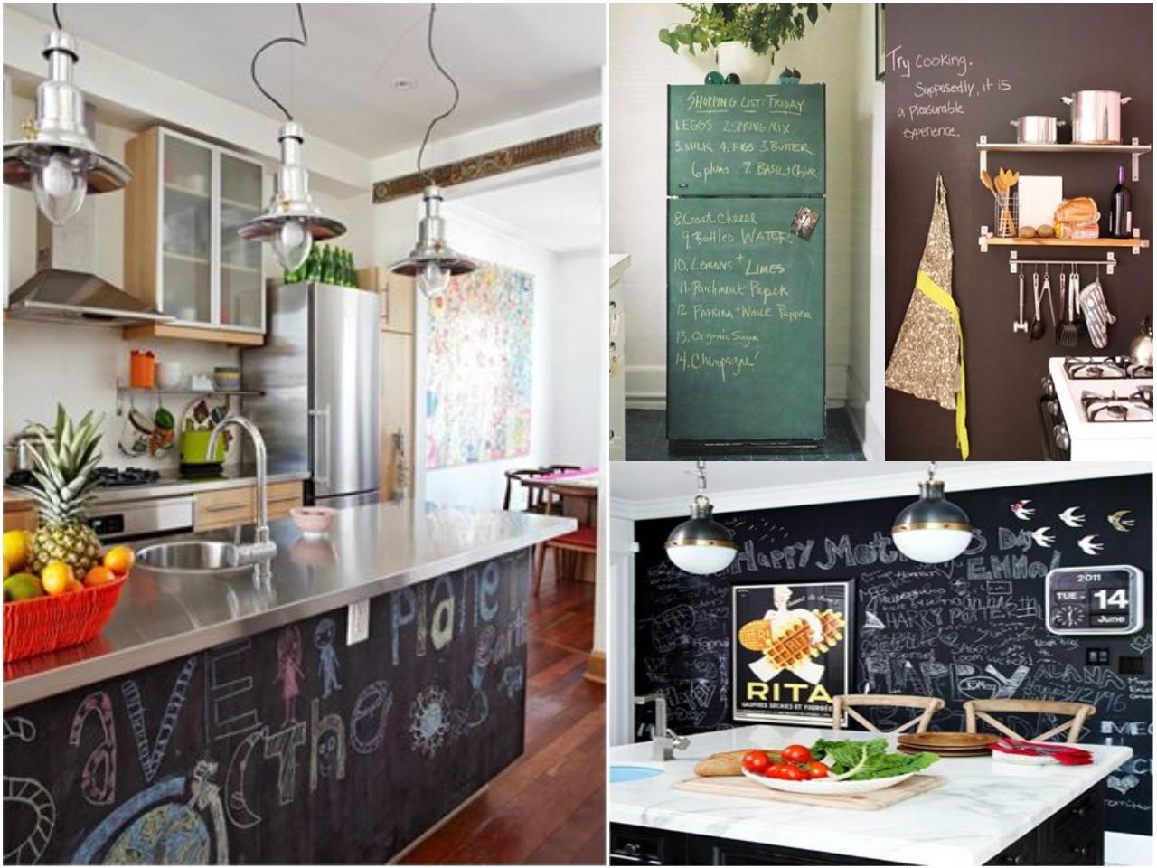 Las 6 mejores ideas de decoraci n con pizarras para casa - Pintura de pizarra para paredes ...