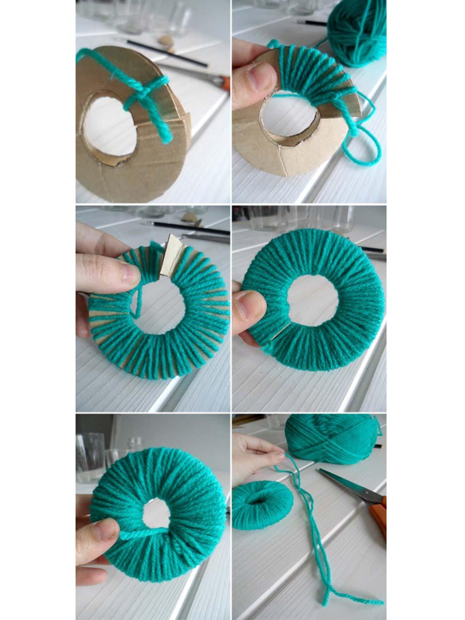 7 s per ideas para hacer pompones de lana para decorar