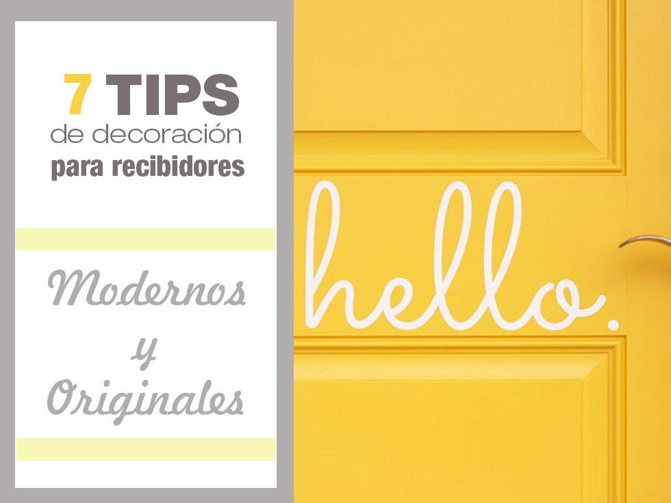 7 Tips molones de decoración de recibidores modernos