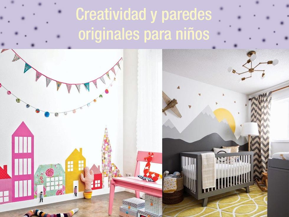 Creatividad y paredes originales para ni os - Habitaciones infantiles decoracion paredes ...