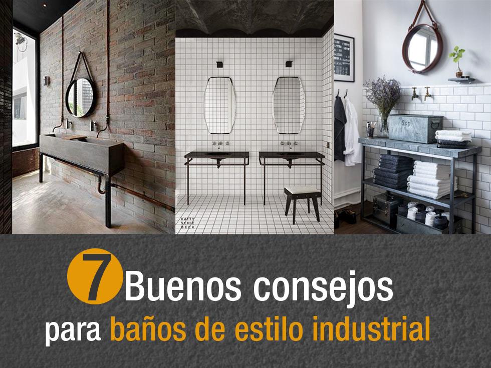 7 buenos y tiles consejos para ba os de estilo industrial for Cofre de estilo industrial