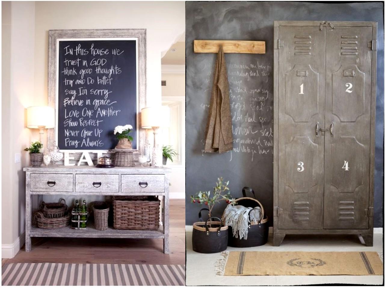 Las 6 mejores ideas de decoraci n con pizarras para casa - Decoracion de entradas de casas ...