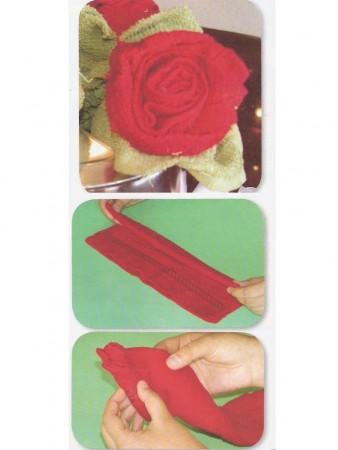 flores con toalla