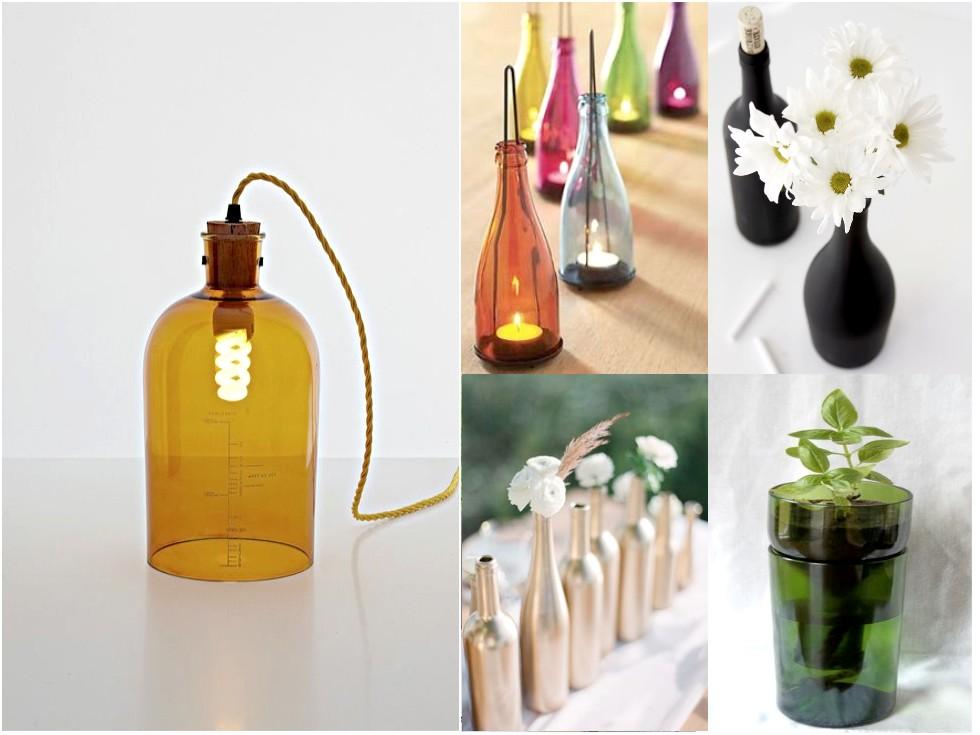 6 Mejores Y Geniales Ideas Para Reciclar Botellas De Vidrio - Ideas-para-el-reciclaje