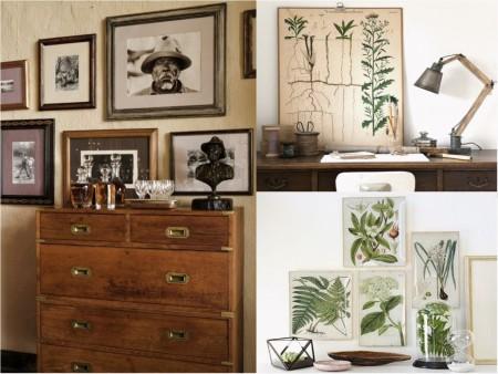 Decoración dormitorios estilo colonial con plantas