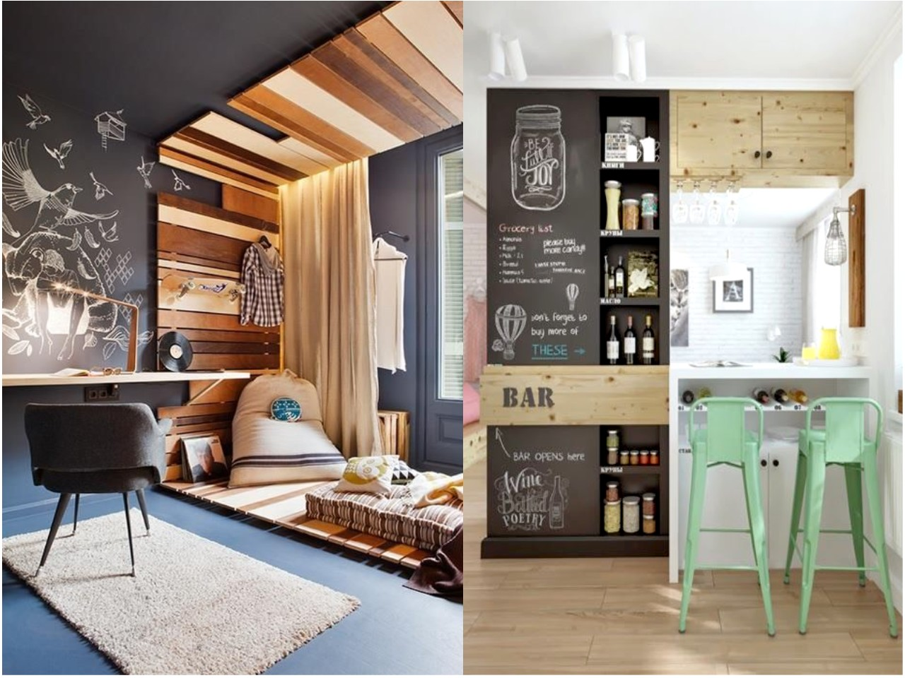 Las 6 mejores ideas de decoraci n con pizarras para casa - Ideas decoracion bar ...