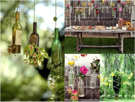 Ideas para reciclar botellas de cristal con plantas